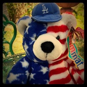 Los Angeles dodgers vintage 90s USA teddy bear